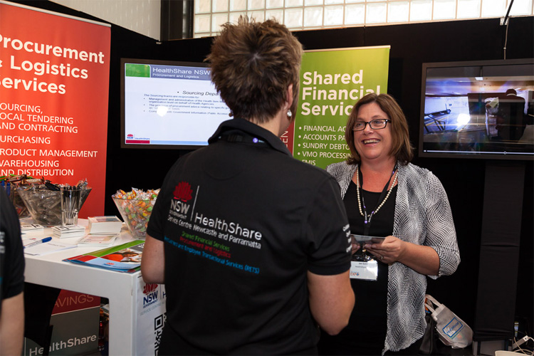 Healthshare - shared financial services stand