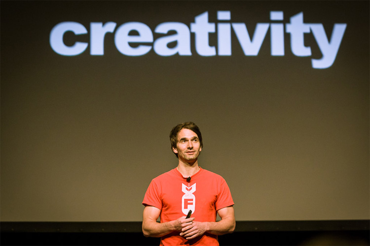 Todd Sampson giving presentation