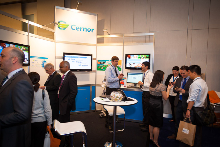 more people talking at the Cerner stand